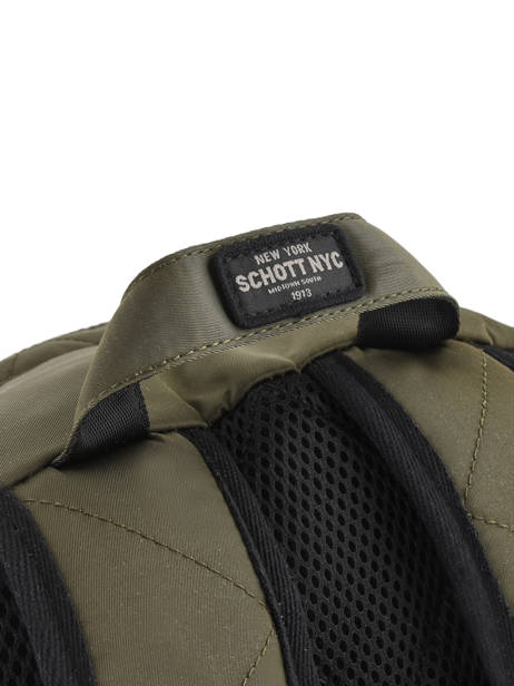 Backpack 1 Compartment Schott Green army 18-62707 other view 1