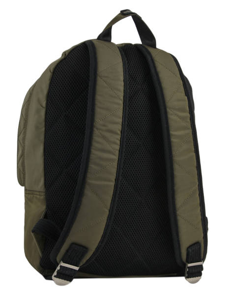 Backpack 1 Compartment Schott Green army 18-62707 other view 4