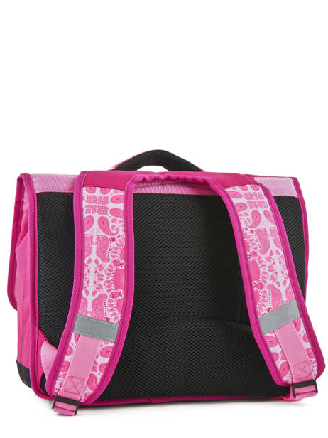 Satchel 2 Compartments With Free Pencil Case Teo jasmin Pink bandana TAL13007 other view 4