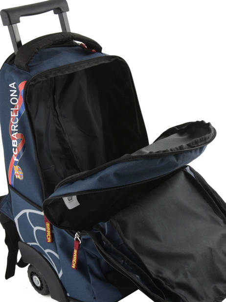 Wheeled Backpack 2 Compartments Fc barcelone Blue barca 171F204L other view 5