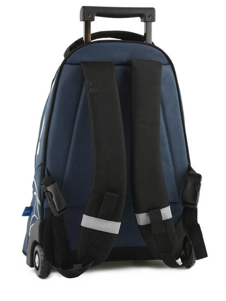Wheeled Backpack 2 Compartments Fc barcelone Blue barca 171F204L other view 4