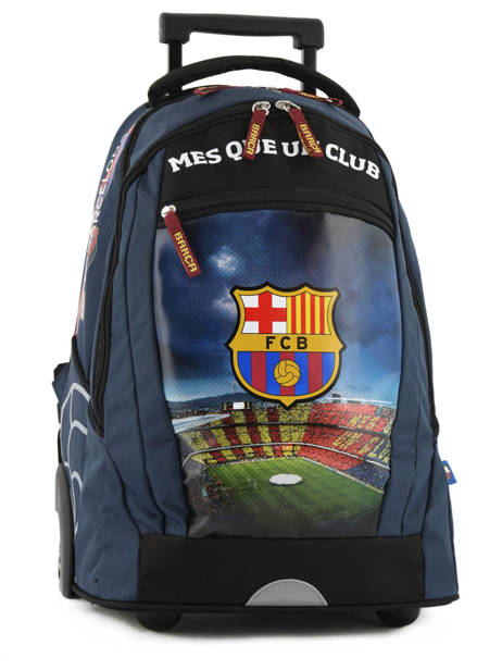 Wheeled Backpack 2 Compartments Fc barcelone Blue barca 171F204L
