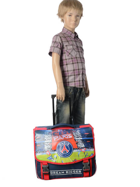 Wheeled Schoolbag 2 Compartments Paris st germain Blue ici c'est paris 173P203R other view 3