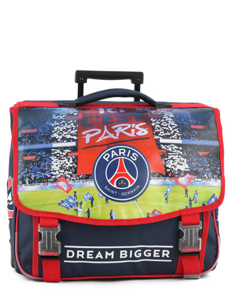 Wheeled Schoolbag 2 Compartments Paris st germain Blue ici c'est paris 173P203R