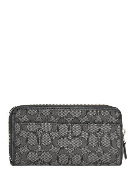 Wallet Leather Coach Black edie 58058 other view 1