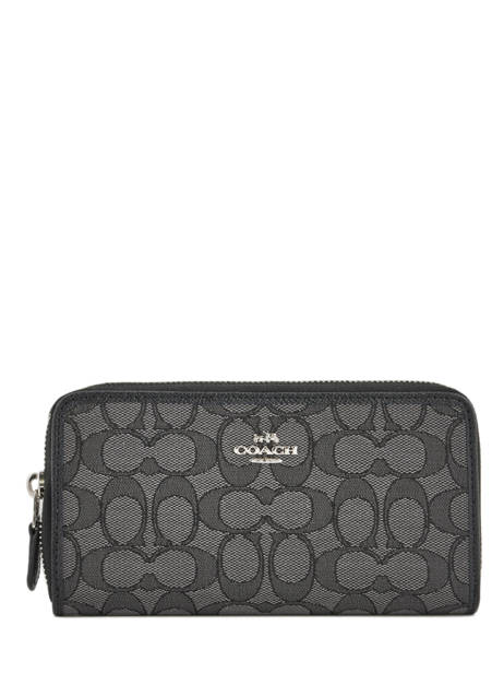 Wallet Leather Coach Black edie 58058