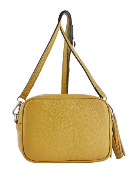 Crossbody Bag  Leather Milano Yellow CA160613 other view 2
