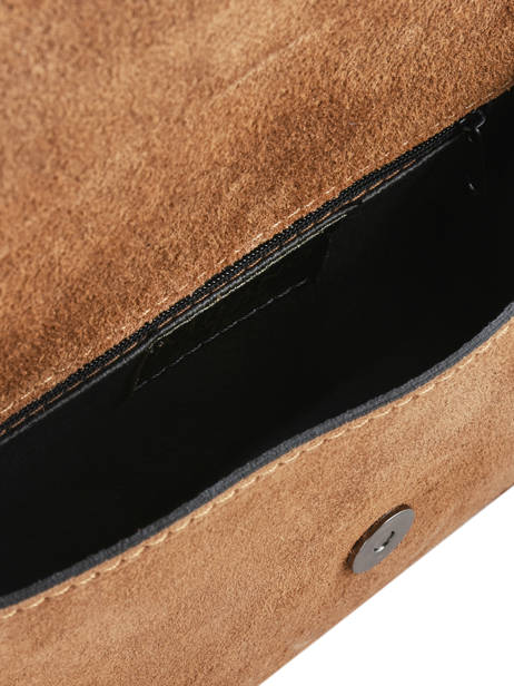 Shoulder Bag Velvet Milano Brown velvet VE17111 other view 3