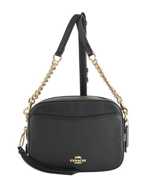 Sac Bandoulière Camera Bag Cuir Coach Noir camera bag 29411