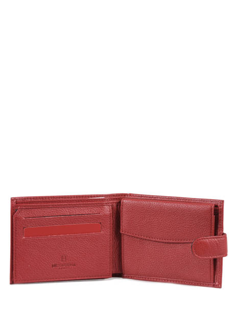 Wallet Leather Hexagona Red confort 461050 other view 2