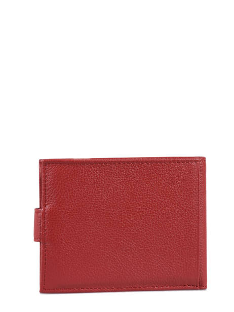 Wallet Leather Hexagona Red confort 461050