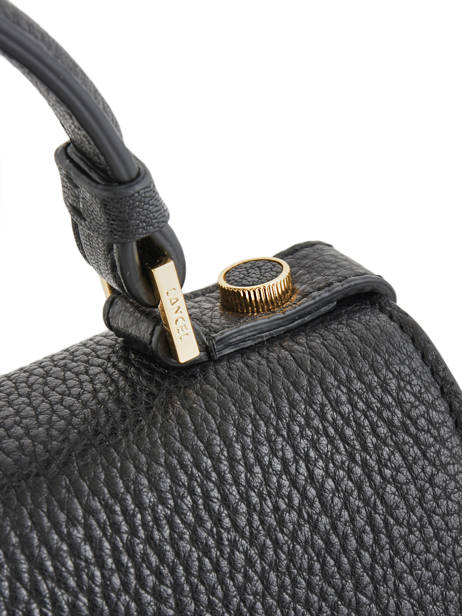 Top Handle S Pia Leather Lancel Black pia A09449 other view 2