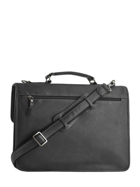 Briefcase 2 Compartments Etrier Black spider S34205 other view 3