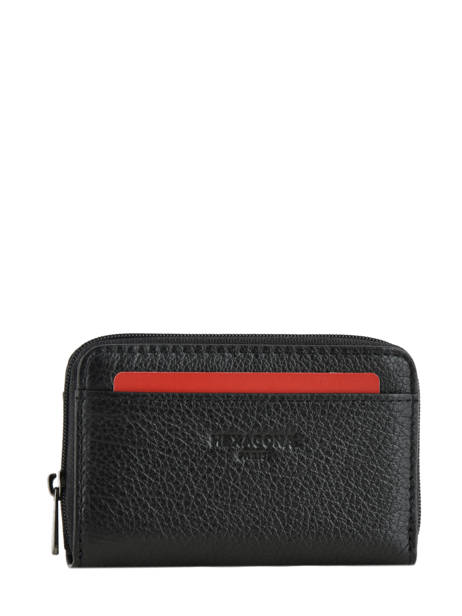 Leather Card Holder Hexagona Black encore 137666