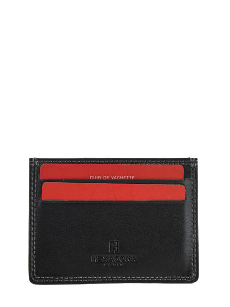 Card Holder Leather Hexagona Black sensation 727523 other view 1