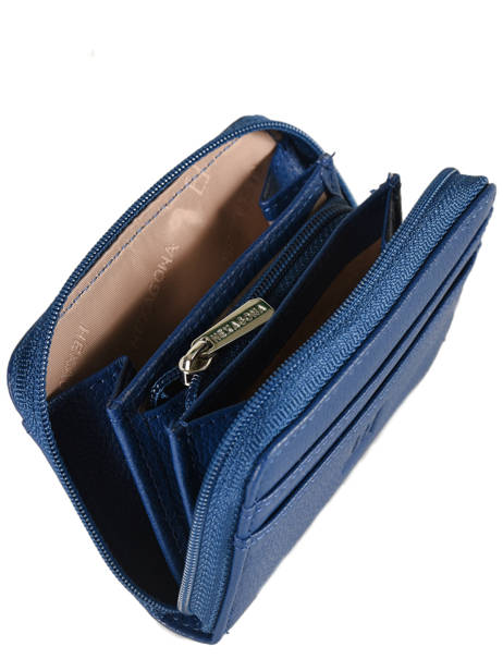 Leather Card Holder Confort Hexagona Blue confort 463042 other view 1
