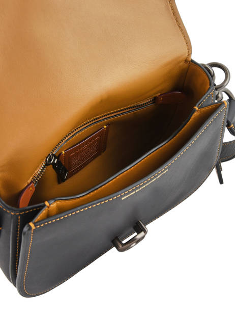 Medium Leather Saddle Bag  Coach Black saddle bag 54202 other view 5