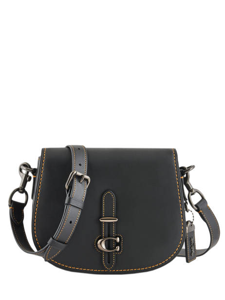 Medium Leather Saddle Bag  Coach Black saddle bag 54202