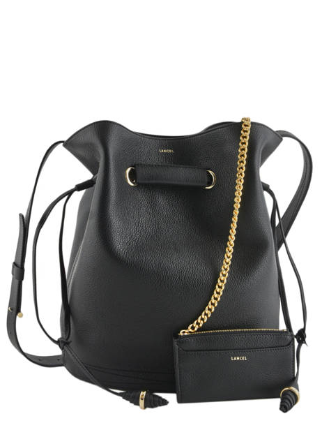 Shoulder Bag L Le Huit Leather Lancel Black le huit A07110