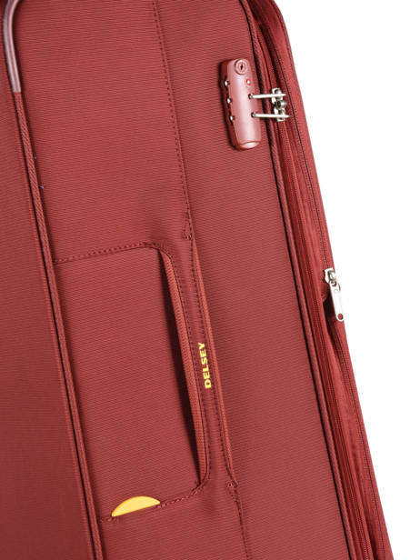 Softside Luggage Expendable Chartreuse Delsey Red chartreuse 3673811 other view 1