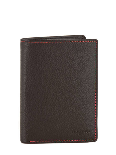 Wallet Leather Le tanneur Black charles TCHA3311