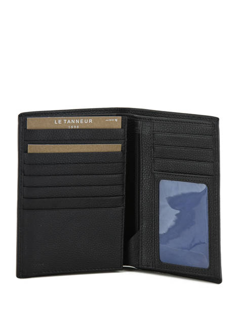 Wallet Leather Le tanneur Black charles TCHA3312 other view 2