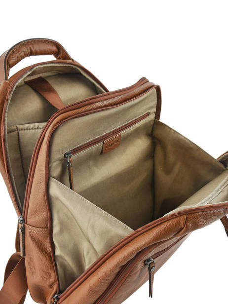 Backpack 2 Compartments + 15'' Pc Etrier Brown flandres EFLA07 other view 5