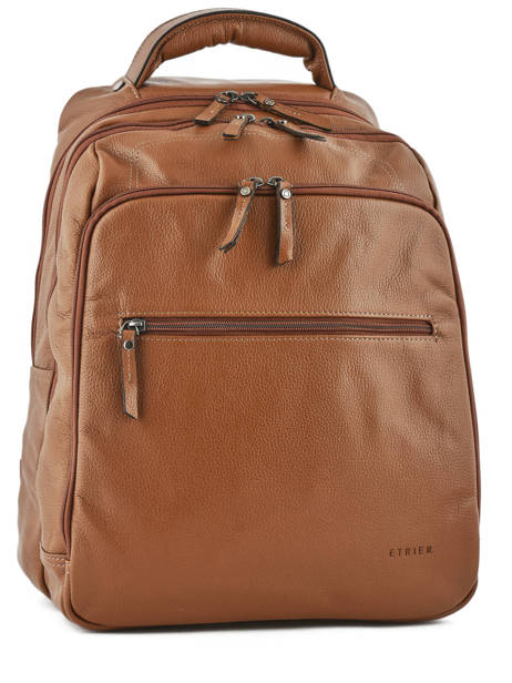 Backpack 2 Compartments + 15'' Pc Etrier Brown flandres EFLA07