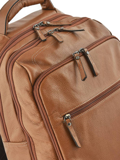 Backpack 2 Compartments + 15'' Pc Etrier Brown flandres EFLA07 other view 2