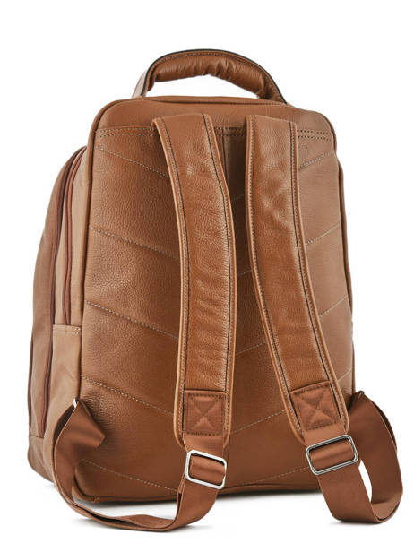 Backpack 2 Compartments + 15'' Pc Etrier Brown flandres EFLA07 other view 4
