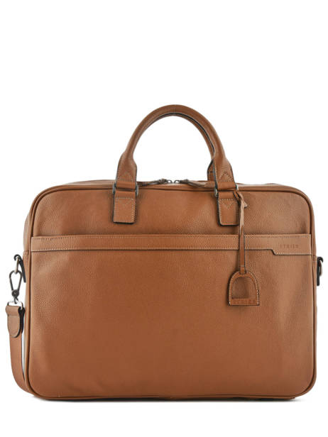 Briefcase 1 Compartment + 17'' Pc Etrier Brown flandres EFLA06