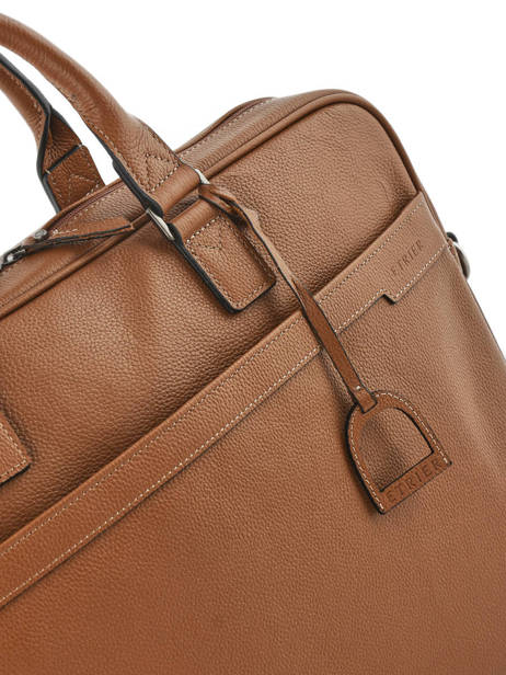 Briefcase 1 Compartment + 17'' Pc Etrier Brown flandres EFLA06 other view 2