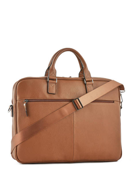 Briefcase 1 Compartment + 17'' Pc Etrier Brown flandres EFLA06 other view 3