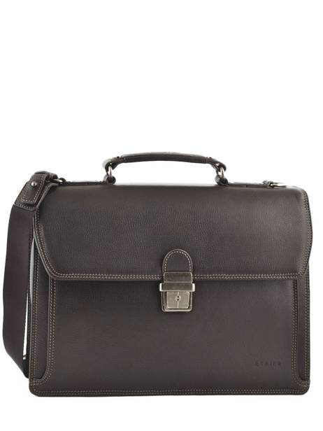 Briefcase 1 Compartment Etrier Brown flandres EFLA01