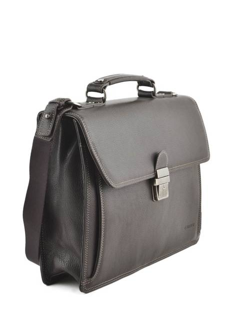 Briefcase 1 Compartment Etrier Brown flandres EFLA01 other view 2