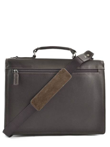 Briefcase 1 Compartment Etrier Brown flandres EFLA01 other view 3