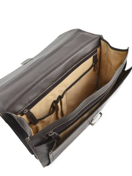 Briefcase 1 Compartment Etrier Brown flandres EFLA01 other view 5