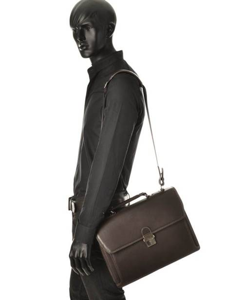 Briefcase 1 Compartment Etrier Brown flandres EFLA01 other view 1