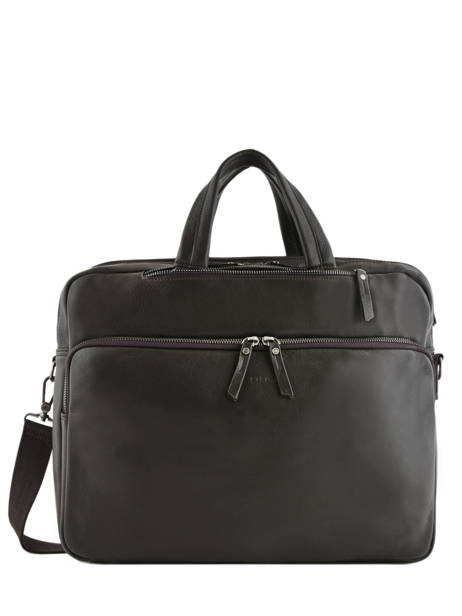 Leather Foulonné Briefcase/backpack Hybrid Etrier Brown foulonne EFOU02