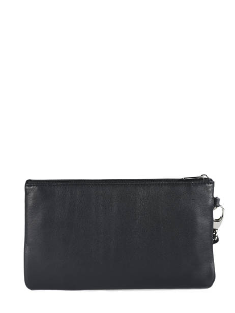 Clutch Leather Hexagona Black coconut E77213 other view 2