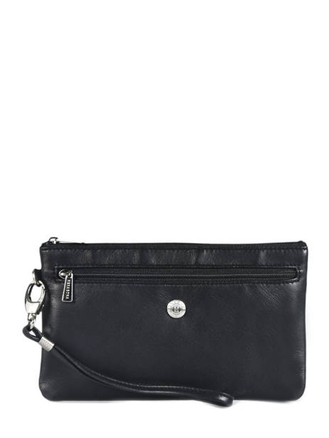 Clutch Leather Hexagona Black coconut E77213