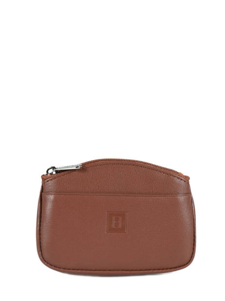 Soft Leather Purse Hexagona Brown soft 221030