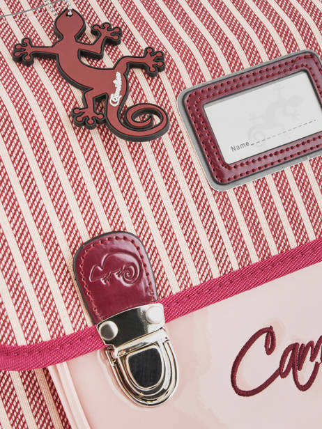 Satchel 2 Compartments Cameleon Pink retro vinyl REV-CA38 other view 1