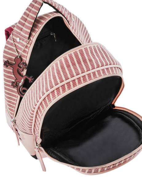 Sac à Dos Enfant 2 Compartiments Cameleon Rose retro vinyl REV-SD31 vue secondaire 5