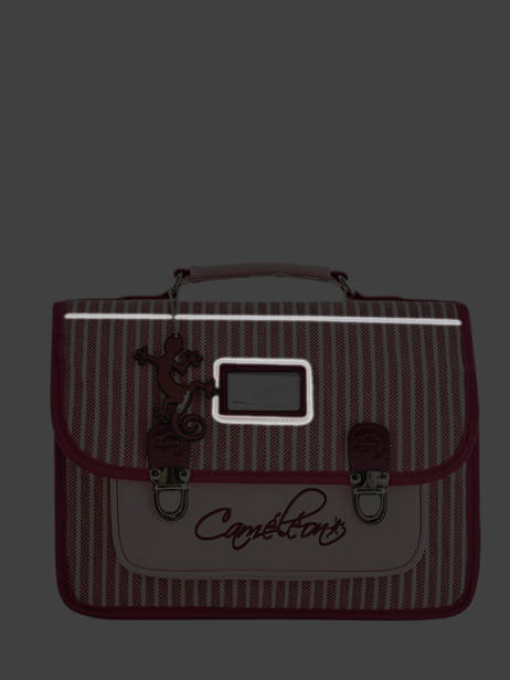 Cartable Enfant 2 Compartiments Cameleon Rose retro vinyl REV-CA35 vue secondaire 7