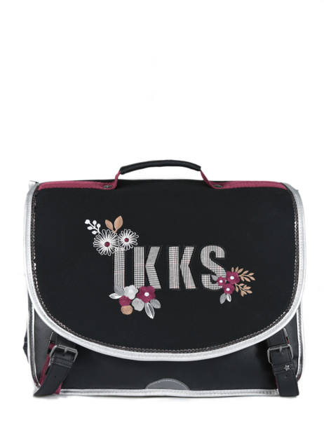 Cartable 2 Compartiments Ikks Noir black tea 38814