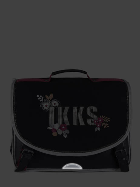 Cartable 2 Compartiments Ikks Noir black tea 38814 vue secondaire 5