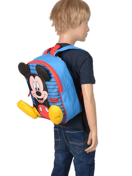 Mini Backpack Mickey Mickey Blue stripe MICNI03 other view 1