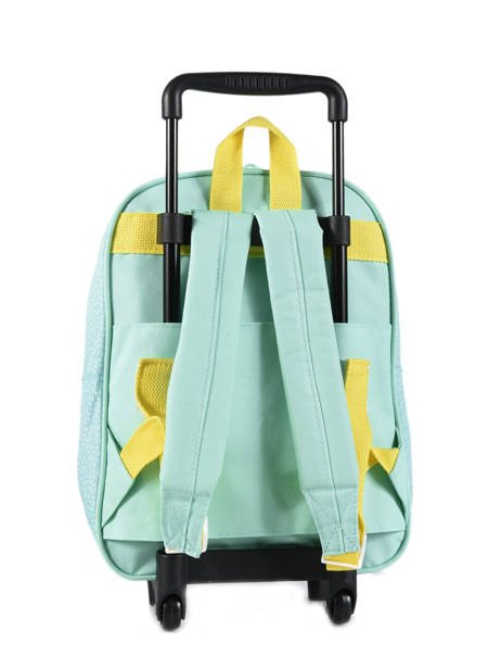 Backpack On Wheels 1 Compartment My favorite Green friends 484598 other view 2