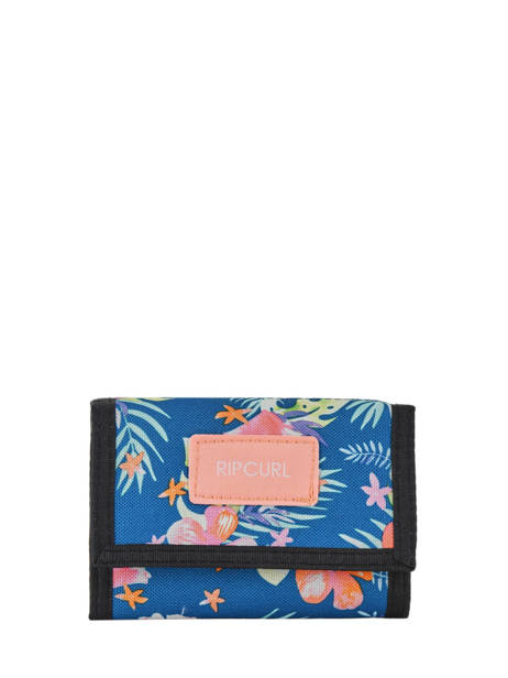 Wallet Leather Rip curl Blue toucan flora LWULE4